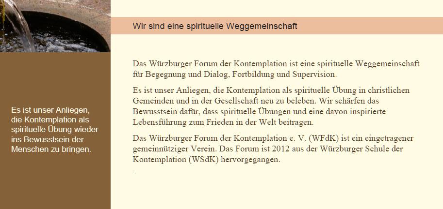 WFdK e.V. - eine spirituelle Weggemeinschaft